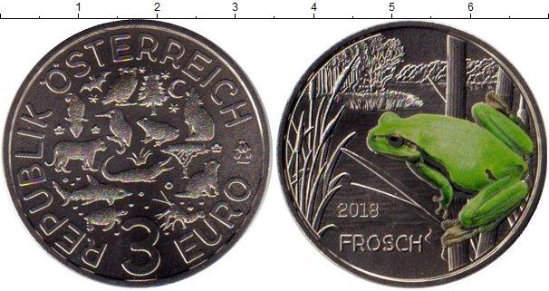 Картинка Мелочь Австрия 3 евро Медно-никель 2018