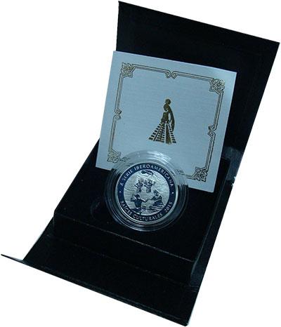 Изображение Подарочные монеты Гватемала 1 кетсаль 2017 Серебро Proof Монета номиналом в 1