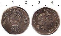 Изображение Монеты Великобритания Гернси 20 пенсов 1999 Медно-никель UNC-