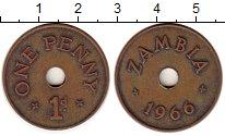 Изображение Монеты Замбия 1 пенни 1966 Бронза XF