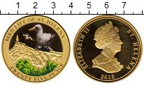 Изображение Монеты Великобритания Остров Святой Елены 25 пенсов 2013 Латунь Proof