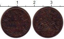 Изображение Монеты Германия Нассау 1 пфенниг 1862 Медь XF
