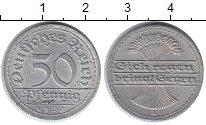 Изображение Монеты Германия Веймарская республика 50 пфеннигов 1920 Алюминий XF