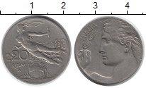 Изображение Монеты Италия 20 сентесим 1910 Медно-никель XF-