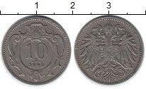 Изображение Монеты Австрия 10 геллеров 1895 Медно-никель XF-