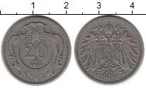 Изображение Монеты Австрия 20 геллеров 1894 Медно-никель XF