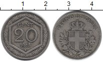 Изображение Монеты Италия 20 сентесим 1918 Медно-никель VF