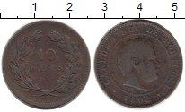 Изображение Монеты Португалия 10 рейс 1892 Бронза VF