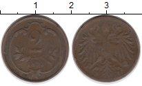 Изображение Монеты Австрия 2 геллера 1894 Бронза VF
