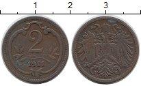 Изображение Монеты Австрия 2 геллера 1911 Бронза VF