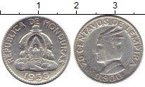 Изображение Монеты Гондурас 20 сентаво 1958 Серебро VF