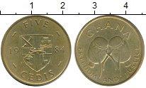 Изображение Монеты Гана 5 седи 1984 Латунь XF