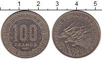 Изображение Монеты Конго 100 франков 1985 Медно-никель XF