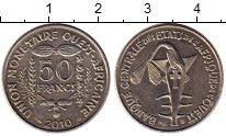 Изображение Монеты Западная Африка 50 франков 2010 Медно-никель XF
