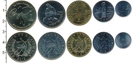 Изображение Наборы монет Гватемала Гватемала 2009-2013 0  UNC Набор шести монет: 1