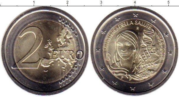 Картинка Мелочь Италия 2 евро Биметалл 2018