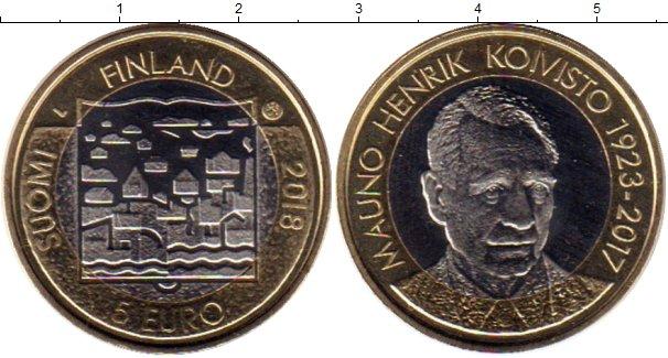 Картинка Мелочь Финляндия 5 евро Биметалл 2018