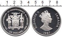 Изображение Монеты Ямайка 25 долларов 1987 Серебро Proof