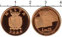 Изображение Монеты Мальта 25 лир 2004 Золото Proof