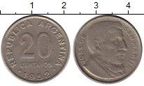 Изображение Монеты Аргентина 20 сентаво 1952 Медно-никель XF