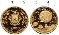 Изображение Монеты Гвинея 2000 франков 1968 Золото Proof