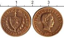 Изображение Монеты Куба 4 песо 1916 Золото UNC-