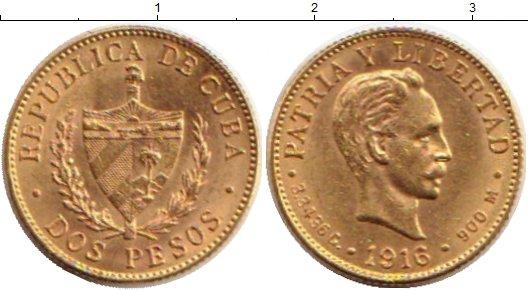 Картинка Монеты Куба 2 песо Золото 1916