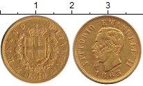 Изображение Монеты Италия 10 лир 1863 Золото XF-
