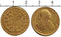 Изображение Монеты Испания 2 эскудо 1801 Золото XF-