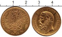 Изображение Монеты Германия Баден 20 марок 1872 Золото XF-