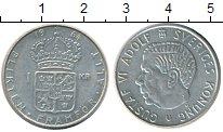 Изображение Монеты Швеция 1 крона 1964 Серебро XF