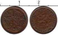 Изображение Монеты Нидерланды 1/2 цента 1937 Бронза XF