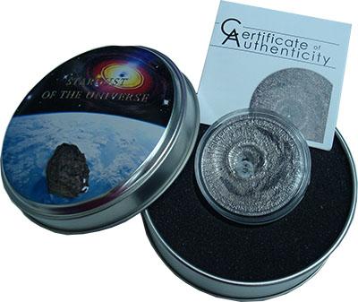 Изображение Подарочные монеты Острова Кука 2 доллара 2016 Серебро UNC Тамадхатский метеори
