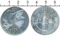 Изображение Монеты Сан-Марино 5000 лир 2001 Серебро UNC