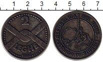 Изображение Монеты Италия 2 лего 1992 Медно-никель XF
