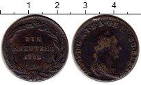 Изображение Монеты Австрия 1 крейцер 1782 Медь VF