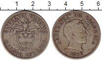Изображение Монеты Колумбия 50 сентаво 1916 Серебро XF