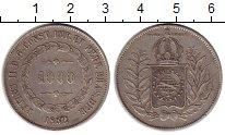 Изображение Монеты Бразилия 1000 рейс 1852 Серебро XF