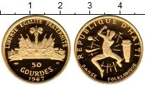 Изображение Монеты Гаити 50 гурдес 1967 Золото Proof