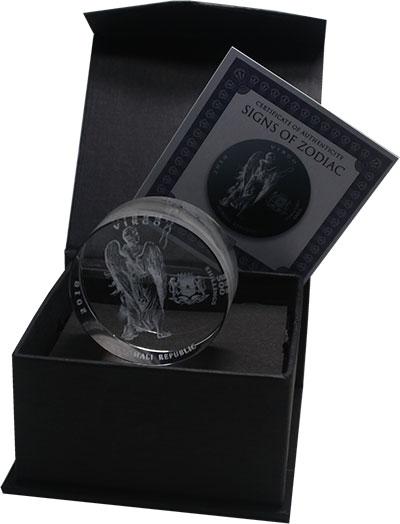 Изображение Подарочные монеты Сомали 500 шиллингов 2018 Стекло UNC Знаки зодиака. Дева.