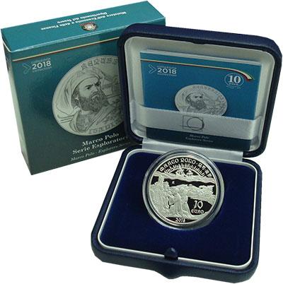 Изображение Монеты Италия 10 евро 2018 Серебро Proof