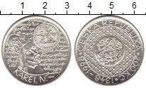 Монета Чехия 200 крон Серебро 1998 UNC фото