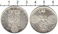 Изображение Монеты Чехия 200 крон 2000 Серебро UNC