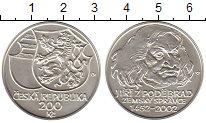 Изображение Монеты Чехия 200 крон 2002 Серебро UNC