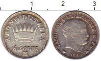 Изображение Монеты Италия 5 сольди 1813 Серебро VF