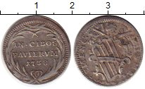 Изображение Монеты Ватикан 1 гроссо 1738 Серебро VF