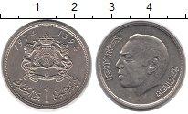 Изображение Монеты Марокко 1 дирхам 1974 Медно-никель UNC-