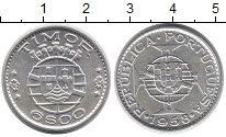 Изображение Монеты Тимор 6 эскудо 1958 Серебро XF