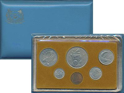Изображение Подарочные монеты Сингапур Набор монет 1977 года 1977  UNC Выпуск монет 1977 го