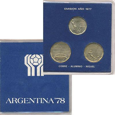 Изображение Подарочные монеты Аргентина Аргентина 1977-1978 1978  UNC В наборе 3 монеты но